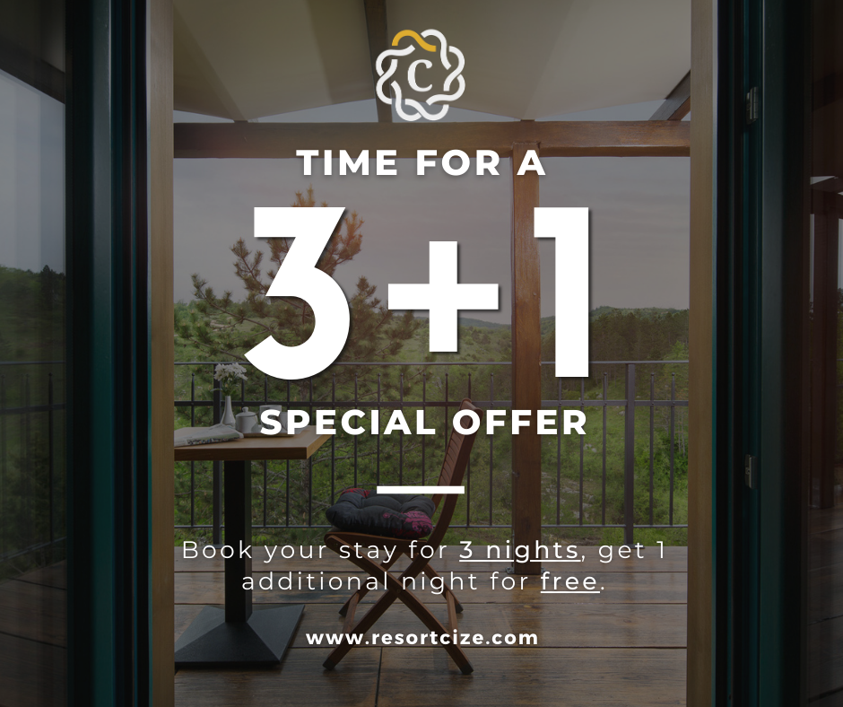 Special 3+1 offer at Resort Čiže, accommodation and leasure houses